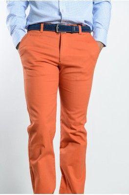 """Spagnolo. Pantalon-sarga-777 Naranja. Talla 34 de Levis.... talla 44 """"normal"""". de este modelo o similar en color marron chocolate o en verde botella"""