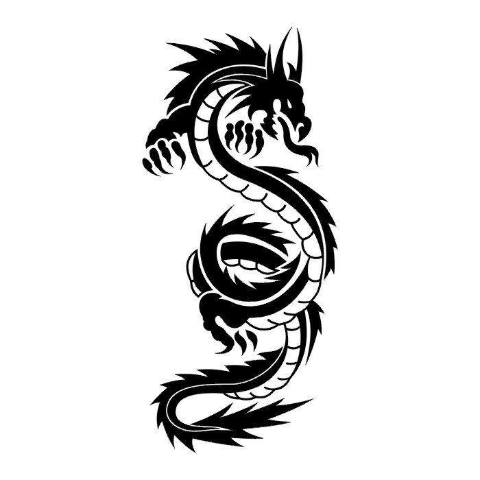dragon tattoos tribal | Tribal tattoo, dragon tattoo designs. Black dragon tattoo.