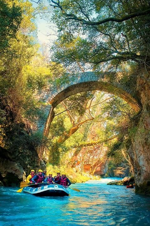 Rafting in Loussios river where Zeus used to bathe himself! (Arcadia pref.)