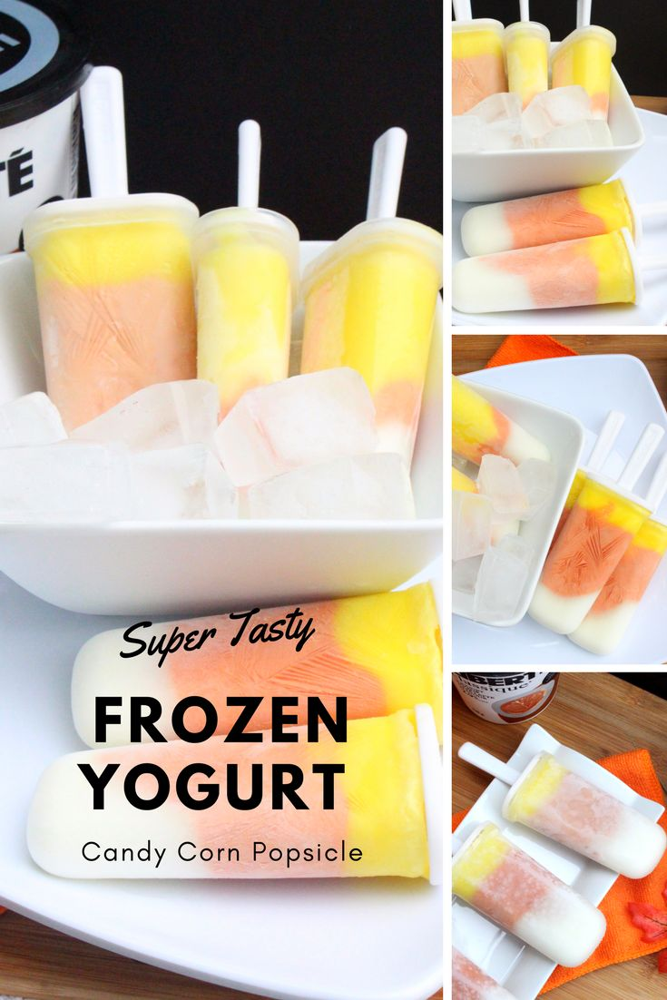 Super Tasty Frozen Yogurt Candy Corn Popsicle