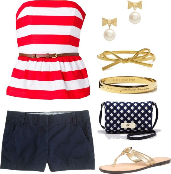 4th of July Outfit Idea...you have this...well pretty close!  Haha