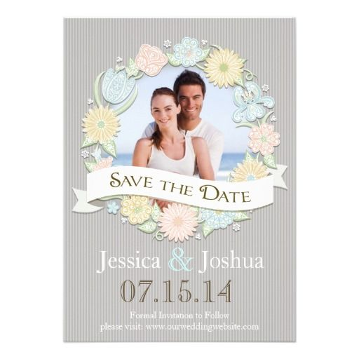 32 best save the date images on pinterest dates dating and lyrics floral save the date floral save the datespersonalized invitationsinvitation cardstextscustomized invitationslyricstext messages stopboris Gallery