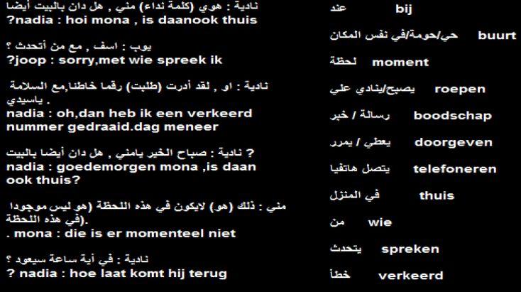 محادثة هولندية هامة الاتصال الهاتفي تعلم اللغة الهولندية In This Moment Joop
