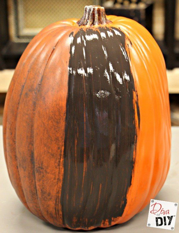 It takes just two steps, but it will make your faux pumpkins look realistic and rustic year after year!