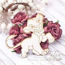 Чипборд Маленький лев 55*54мм vl1784