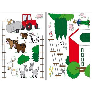 Wizard and Genius The Farm Wall Stickers from Walmart
