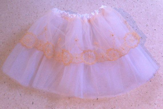Pretty White Princess Ballerina Tutu Soft Tulle by MadeByBecky, $19.00