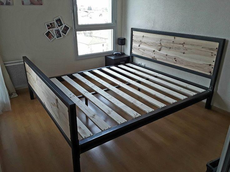 les 25 meilleures id es de la cat gorie cadre de lit en acier sur pinterest t te de lit m tal. Black Bedroom Furniture Sets. Home Design Ideas