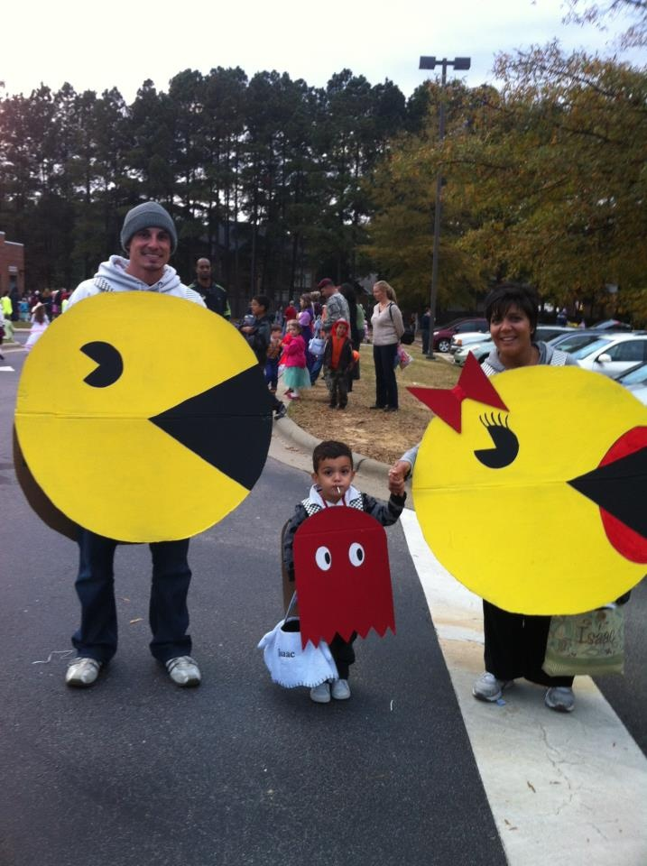 mrs pacman and ghost costumes - Space Ghost Halloween Costume
