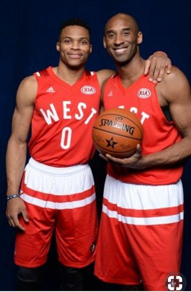 Russellwestbrook Kobebryant Allstars Westbrook Thunder Oklahomathunder Oklahoma Okc Nba Bryant Kobe Russell Westbrook Kobe Bryant Westbrook Nba