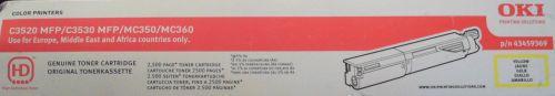 NEW GENUINE OKI 43459369 YELLOW LASER PRINTER TONER CARTRIDGE | eBay