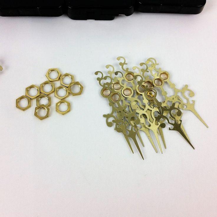 10 Quartz Clock Movement Mechanisms Brass Hands Set DIY Part Serpentine 9//16 LS