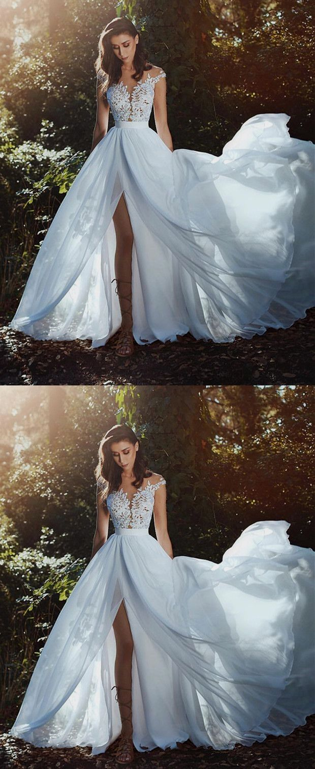 White wedding dress. Brides dream of finding the most appropriate ...