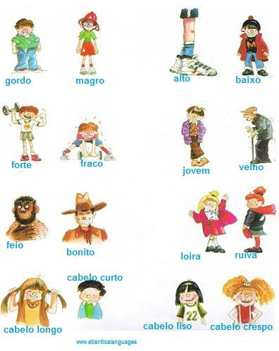 Learn Portuguese adjectives and its opposites. Online Classes with www.atlanticalanguages.com