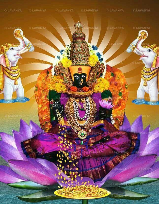 Kholapur Mahalakshmi Hd Wallpaper Hindu Statues Wallpaper