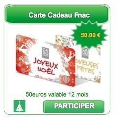 Idée de cadeau : La Carte Cadeau Fnac de 50€ offert par BingoSocialMedia !  @BSM_fr #socialmedia
