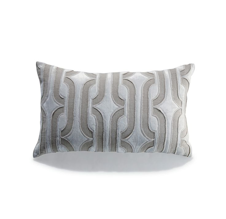 """LINEN & CREAM VELVET PILLOW<BR>[available online and in stores] 30""""w x 18""""h"""