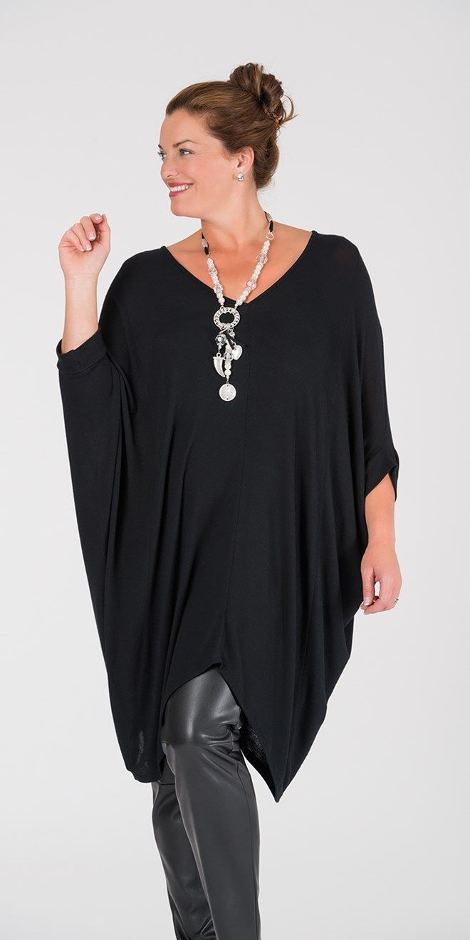 Join Clothes black knitted batwing top at Box 2