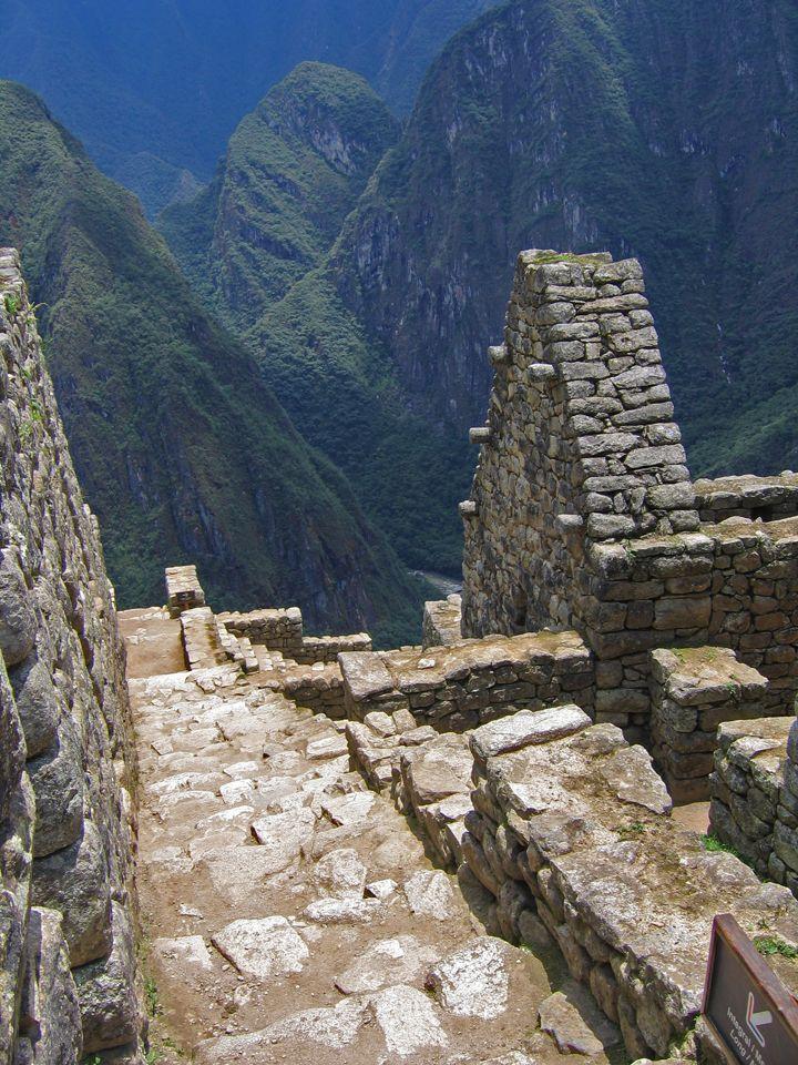Peru Machu Picchu: don't fall!