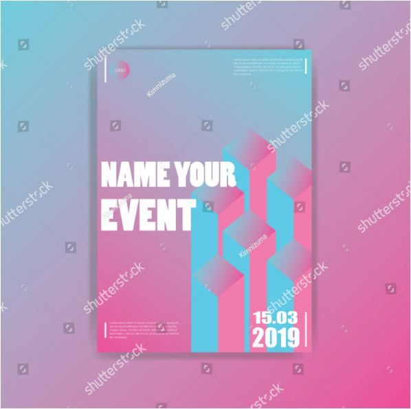 Trendy Poster Designs: Modern Simple Design Poster With Trendy Color Gradient,10eps
