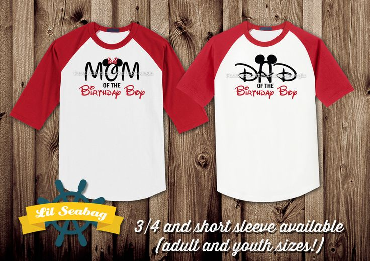 Dad of the Birthday Boy, Disney Mom Shirt, Mickey Mouse Clubhouse Birthday Shirt, Red Raglan Shirt, Birthday Raglan, Birthday Jersey by LilSeabag on Etsy https://www.etsy.com/listing/264152286/dad-of-the-birthday-boy-disney-mom-shirt