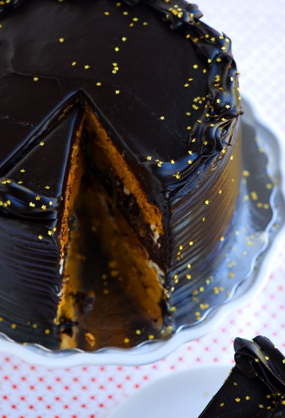 Midnight Pumpkin Layer Cake by Sweetapolita