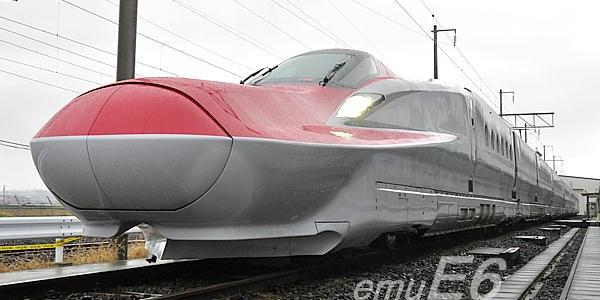 """Akita Shinkansen new vehicle """"E6 system"""" (super Komachi)"""