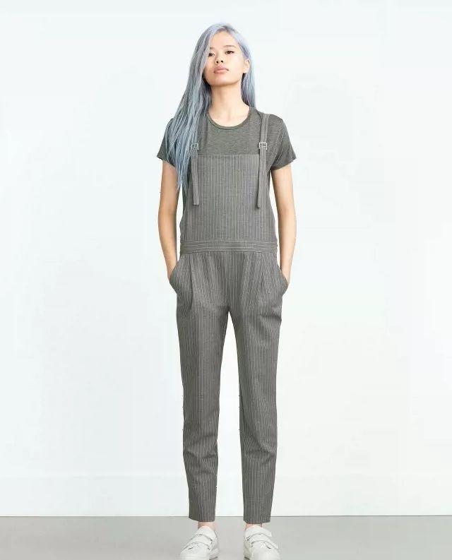 Европа торговли оригинальный сингл-Вэй Гуо полосатые брюки девять очков был тонкий комбинезон шаровары комбинезон женские ноги осенью и зимой весной - Taobao