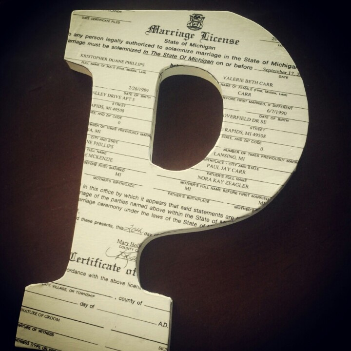 Request For Birth Certificate Letter%0A Copy your marriage certificate and buy a foam board or wooden letter