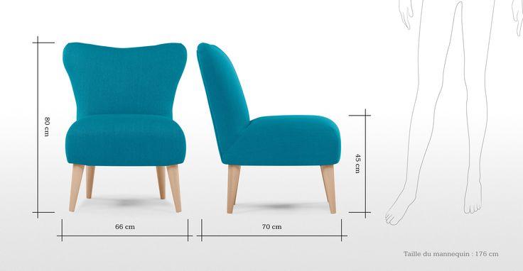 De Finch Arte fauteuil in ijsvogelblauw is een opvallende en comfortabele fauteuil, een leuke blikvanger voor je woonkamer.