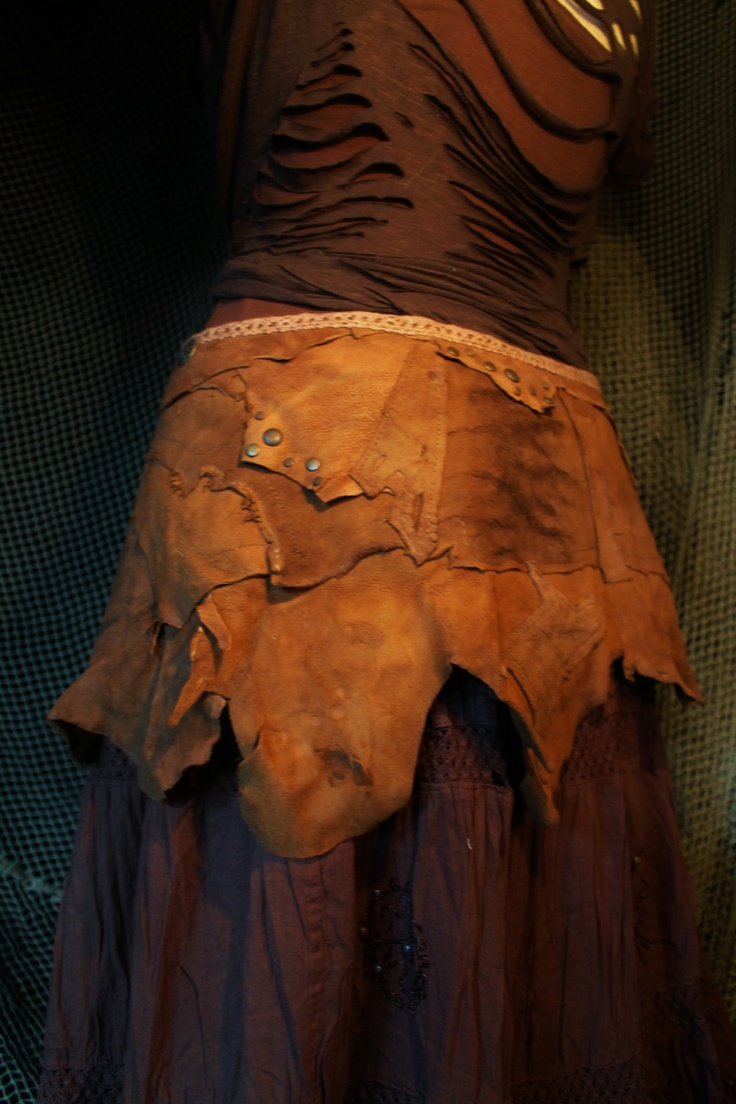 The Tribal  Woodland Warriors Belt or Skirt - in patchwork suede leather - for viking pixies pirate elfs fairys hunters gypsy  people. €154.00, via Etsy.