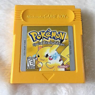 Pokemon Special Pikachu Edition Yellow Gameboy Color Cartridge 100% Tested   | eBay
