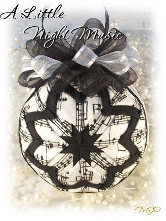A Little Night Music Black and White Unique by missjoysornaments, $18.00