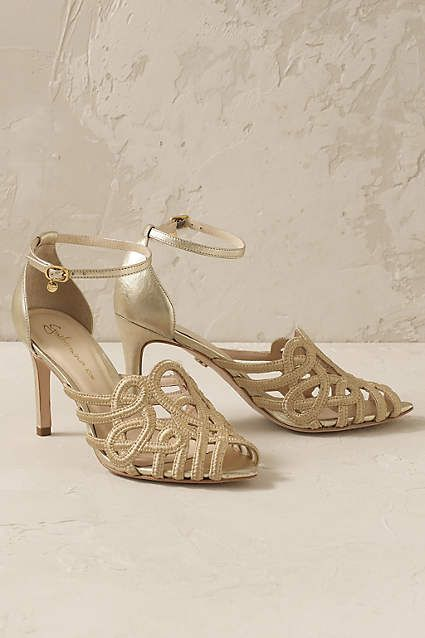 Anthropologie EU Guilhermina Venetian Heels by Guilhermina. Whether it's a get-together, a night on the town or a splendorous soiree, Brazilian label Guilhermina's shoes ace the just-right combination of feminine details, standout materials and sculpted silhouettes.
