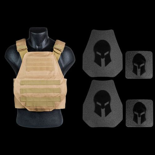 -Spartan AR500 Body Armor Swimmers Cut and Spartan Plate Carrier Package *SPECIAL Price $195.99