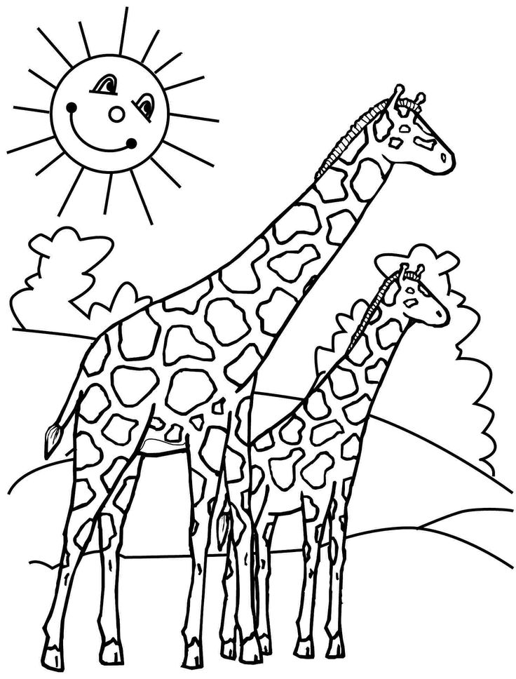 giraffe coloring pages printable tagged with coloring page giraffe 1