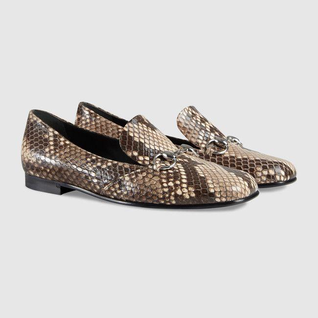 Gucci Chaussures - Python horsebit loafer - 370229EKN002616 ...