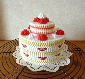 3D Cake perler beads