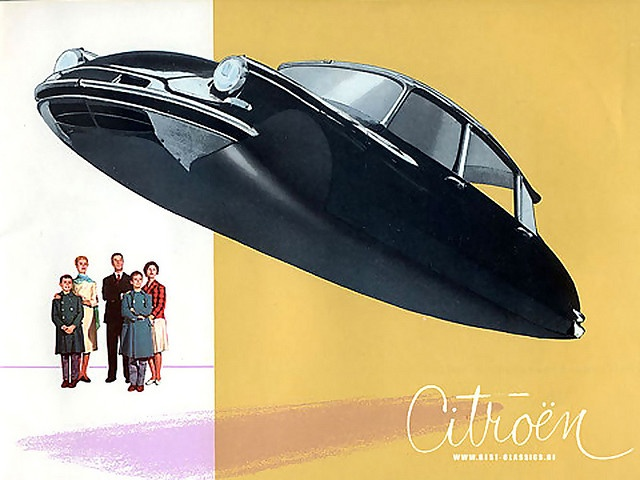 Flying Citroen (Powered by High-Grade Pixie Dust) Concept Advertising Illustration
