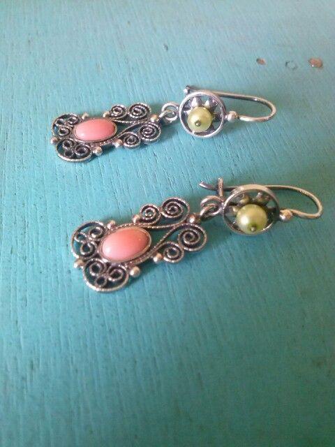 coral rosa y perla cultivada