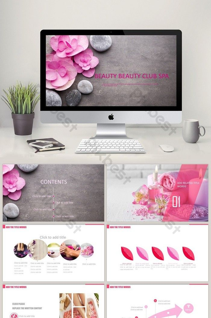 App Bedah Mikro Spa Klub Wellness Salon Kecantikan Powerpoint Templat Pptx Unduhan Gratis Pikbest Di 2020 Salon Kecantikan Kecantikan Spa