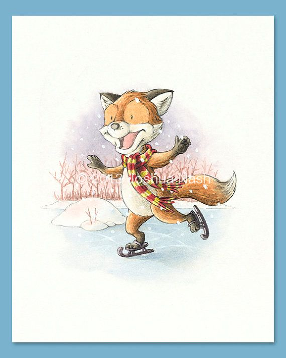 A Fox for all Seasons  A Fox in Winter 8 x 10 by NashIllustrations, $35.00