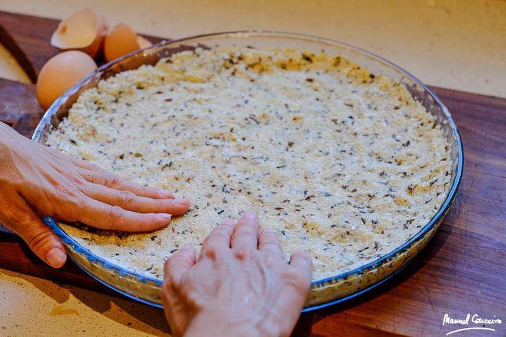Masa para pizza de coliflor y almendras