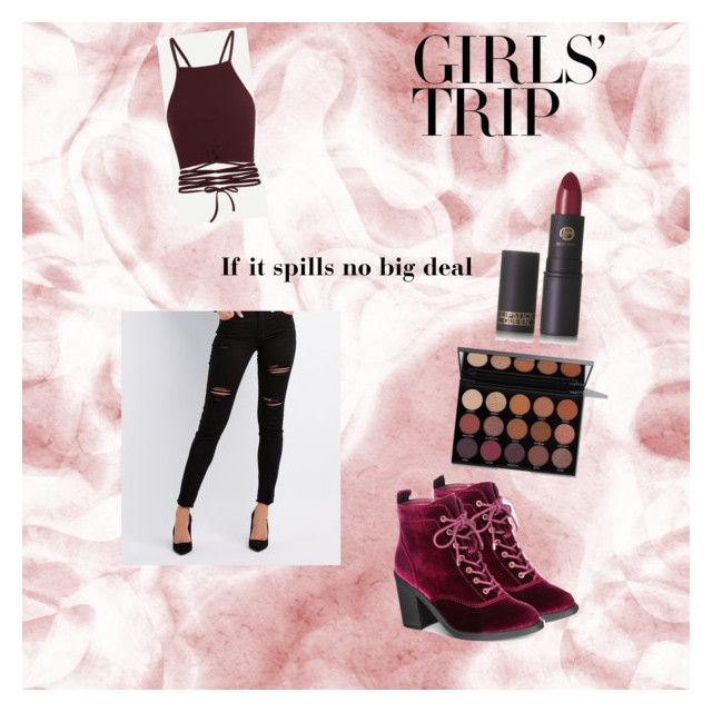Wine tasting by sweetmoegee on Polyvore featuring polyvore, fashion, style, Refuge, Material Girl, Lipstick Queen, clothing, girlstrip and WineTastingOutfit