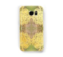 Mirroroid Samsung Galaxy Cases & Skins  Brush marker drawing, gold foil, watercolour digital mirroring  mirror gold foil watercolour flourish lineart line drawing kaliedoscope mirrored repeat pattern adornment embellishment