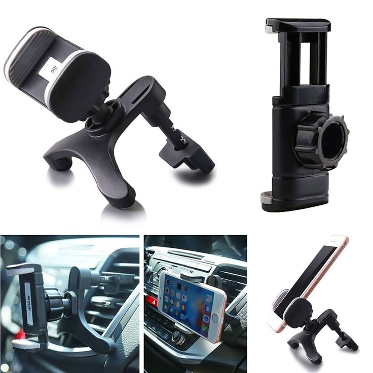 360 Degree Universal Adjustable Car Air Vent Mount Phone Holder Stand For Iphone 6 6s Plus Mobile Phone GPS Interior Accessories #CLICK! #clothing, #shoes, #jewelry, #women, #men, #hats