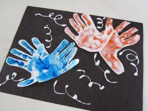 4th of July Craft ~ Handprint fireworks.