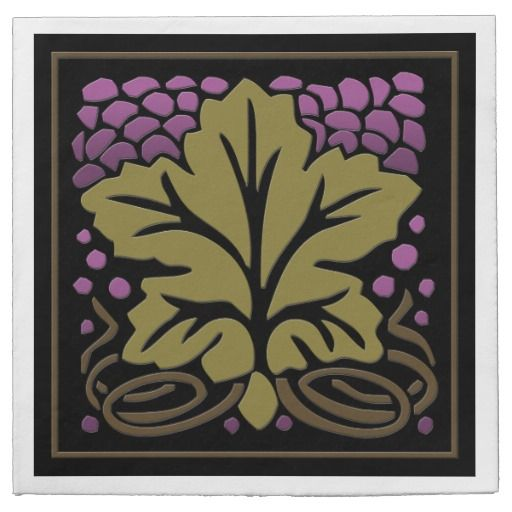 Craftsman Grape Leaf and Grapes (50 Paper Napkins)