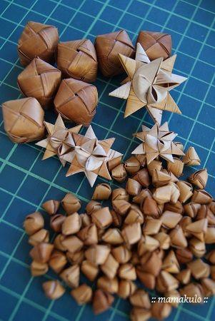 白樺樹皮 パーツ作り 星やビーズなど : 暮らしと育児 2