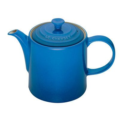 Le Creuset Grand Stoneware Teapot, £34, Selfridges | Decorating With Blue and White | Homeware | Interiors | Red Online